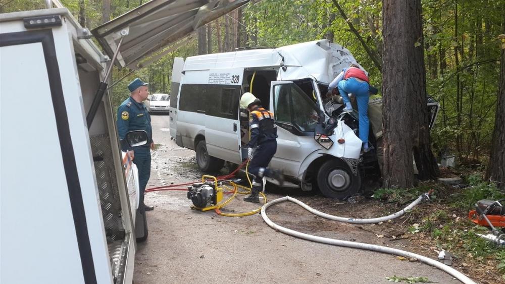 Маршрутка врезалась в дерево на Кубани: погибли две девочки