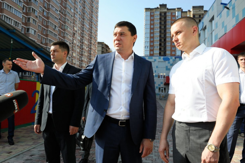 Садик в «Губернском» посетил мэр Краснодара