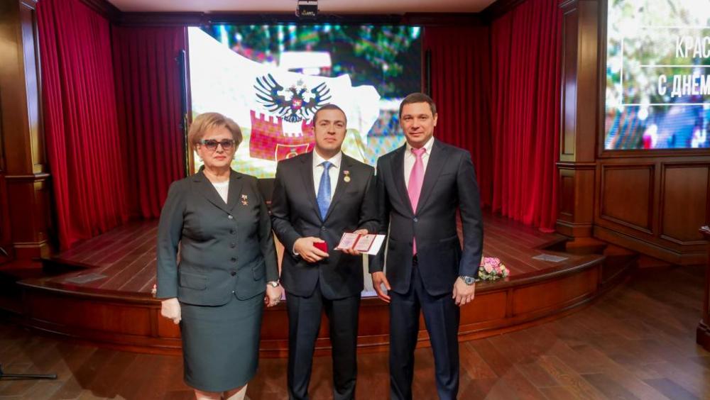 Николай Амосов награжден медалью за активное участие в благоустройстве Краснодара