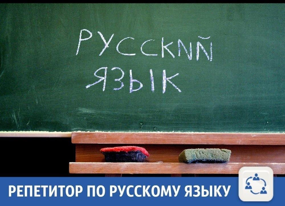 Опытный специалист подтянет «по-русскому» школьника или студента