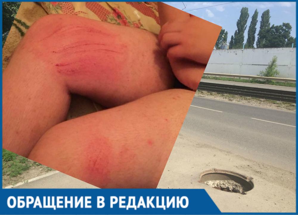 Ребенок провалился в один из открытых люков в Краснодаре