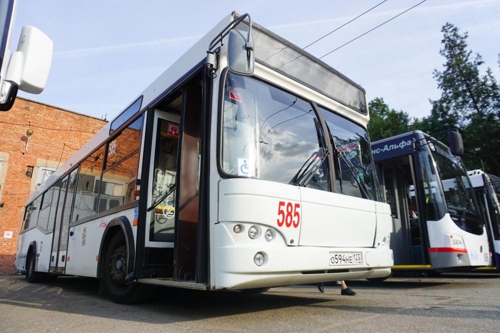 Мэрия Краснодара показала оформленный в едином стиле общественный транспорт