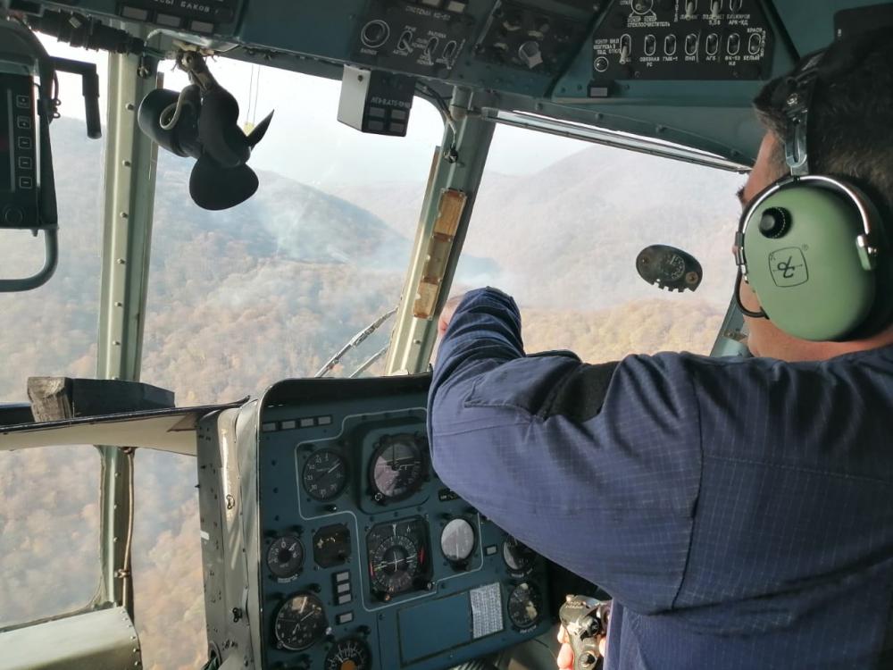 Лесные пожары Кубани: осталось два очага возгорания