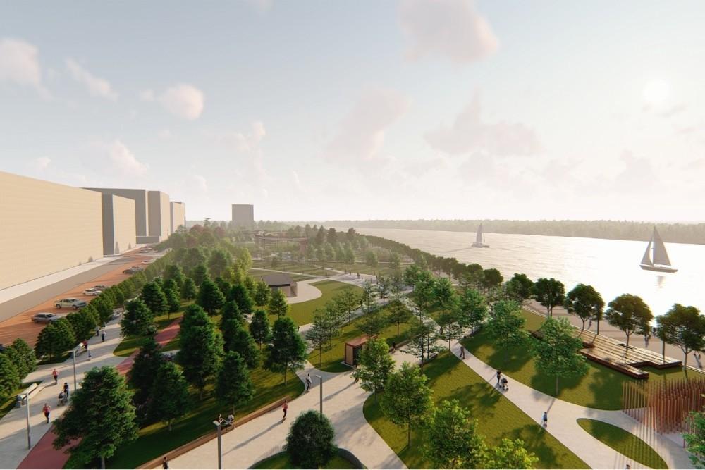 Набережную за 6 млрд рублей в Краснодаре начнут строить в следующем году