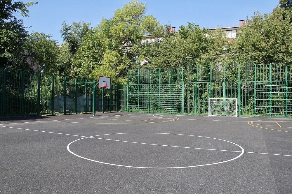 Спортплощадку в центре Краснодара капитально обновили