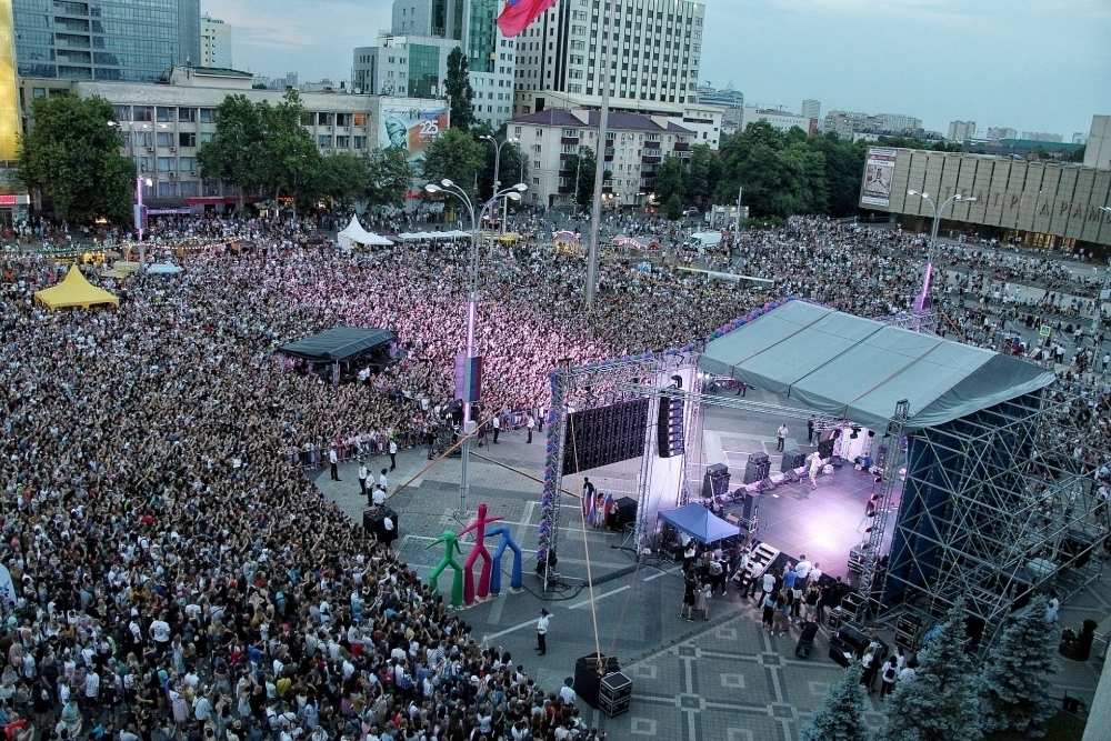 Концерт на Главной городской площади Краснодара собрал 35 тысяч человек