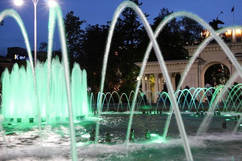 В Краснодаре торжественно открыли сезон фонтанов