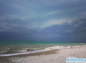 В Туапсинском районе объявлено штормовое предупреждение