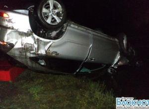 В Кавказском районе перевернулся Lexus