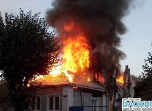 В Выселковском районе загорелся частный дом