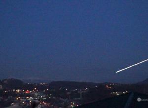 Жители Сочи сообщают об упавших метеорах и НЛО в окрестностях города