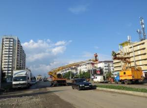 В Краснодаре начали монтаж новой троллейбусной линии