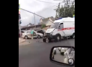 «Скорая» попала в ДТП в Краснодаре