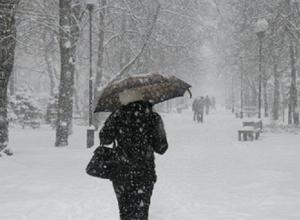 На Рождество в Краснодаре пошел снег