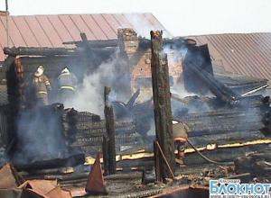 В Анапе из-за пожара в частном доме обрушилась крыша