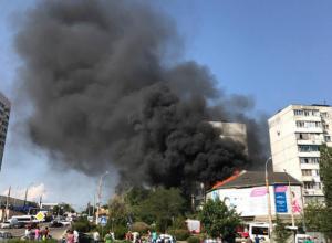 В Новороссийске потушили сильный пожар