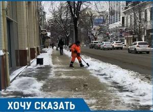 Борьбу со снегом и гололедом проиграли власти Краснодара