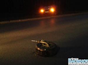В Краснодаре у иномарки на ходу оторвалось колесо