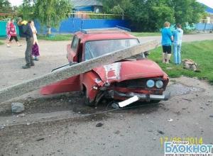 В Павловском районе парень наехал на столб и погиб
