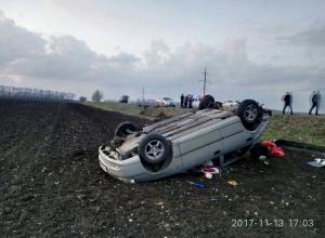 На Кубани 20-летняя автомобилистка попала в ДТП: пострадали дети