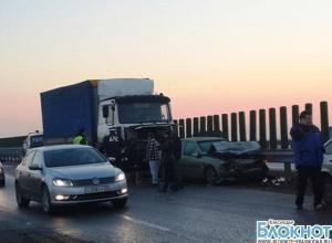 Авария на Кубани: столкнулись 11 автомобилей
