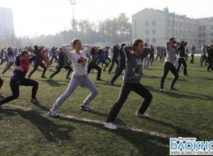 Известные спортсмены Кубани провели зарядку для студентов