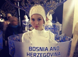 Победительница краснодарского кастинга «Мисс Россия» сопровождала в Сочи олимпийскую сборную Боснии и Герцеговины