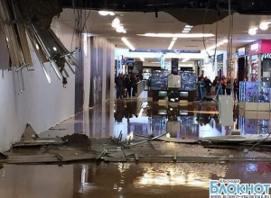 В сети появились фотографии рухнувшей крыши ТРЦ «Галерея Краснодар»