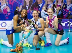 Краснодарские волейболистки стали двукратными обладателями Кубка России