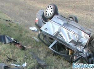В Краснодарском крае опрокинулась машина сотрудников полиции