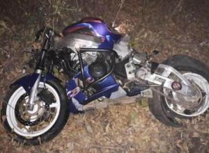 Мотоциклист без шлема врезался в дерево и погиб в Тбилисском районе