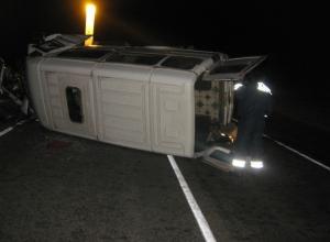 В Краснодарском крае водитель «BMW» врезался в маршрутку