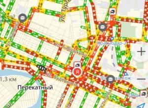 «Красный» Краснодар: город встал в одной большой пробке