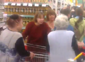 Обезумевшие из-за акции на сахар краснодарцы попали на видео