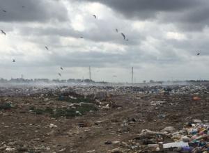 Загоревшаяся месяц назад свалка в Приморско-Ахтарске до сих пор отравляет жителей города