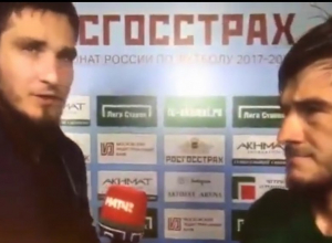 Футболисты «Краснодара» и «Ахмата» устроили драку в перерыве матча