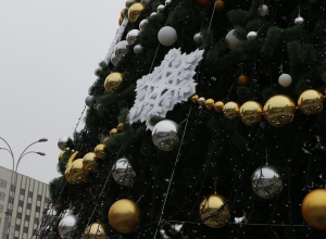 Главную елку Краснодара откроют колонной Дедов Морозов и Снегурочек