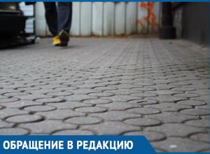 «Ни пройти ни проехать», - жительница Краснодара о городских тротуарах