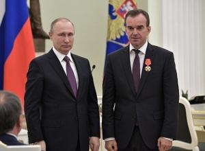 Владимир Путин обсудит текущие проблемы с губернатором Краснодарского края Вениамином Кондратьевым