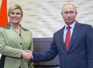 Президент Хорватии в Сочи пригласила Путина в гости