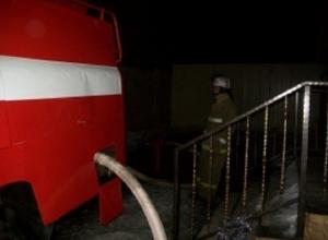 В Абинске пожар в магазине чудом не распространился на соседние здания