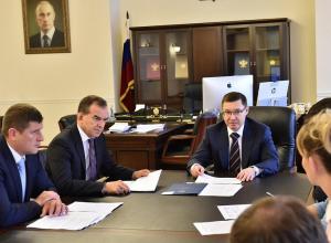 Глава Кубани Вениамин Кондратьев встретился в министром строительства и ЖКХ России