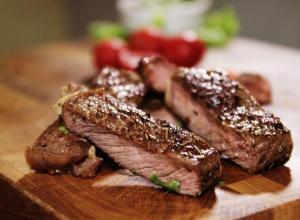 Рецепт стейка из говядины за 15 минут