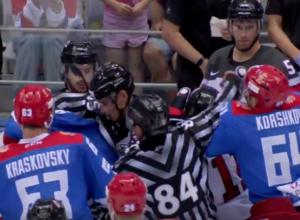 Массовой дракой закончилась игра хоккеистов России и Канады в Сочи
