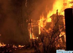 В Краснодарском крае в пожаре погибли мужчина и женщина