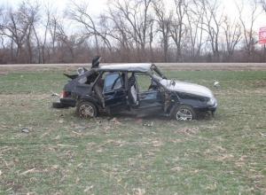 В Каневском районе Краснодарского края в аварии пострадали два человека