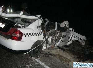 В Темрюкском районе такси попало в аварию
