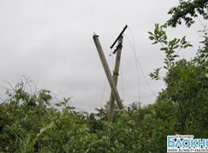 Жители юго-западной части Краснодарского края остались без света из-за сильного ветра