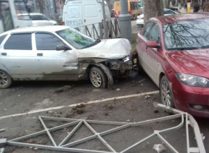 Пьяный водитель в Краснодаре стал виновником ДТП с 4 машинами