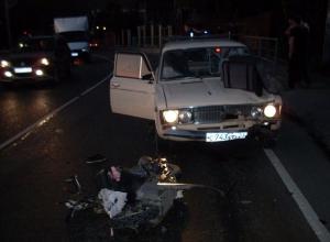 На Кубани мужчина на смерть сбил водителя мопеда